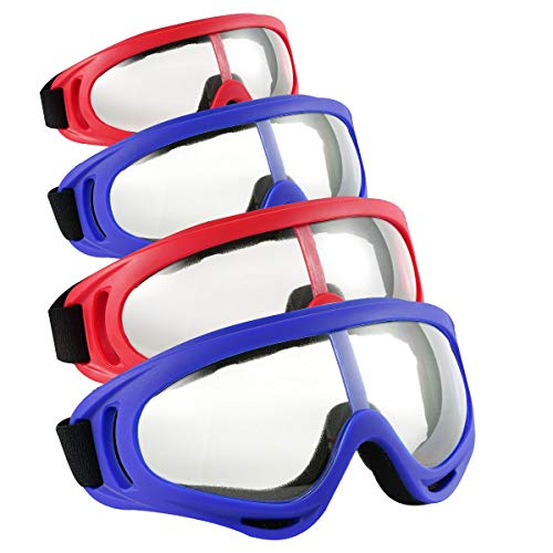 Locisne 4pcs Gafas de protección Seguridad,a Prueba Viento y protección contra el Polvo Gafas de Seguridad Flexibles para Deportes al Aire Libre CS Army Nerf Tactical Goggles Protección para los Ojos ⭐