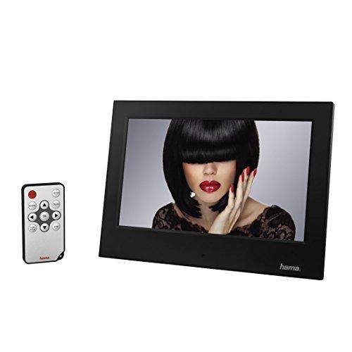 Hama Digitaler Bilderrahmen (17,78 cm (7 Zoll) LED Display, SD/SDHC-Kartenslot, USB, Elektronischer Fotorahmen inkl. Fernbedienung, Kalender, Uhr, Slim) schwarz
