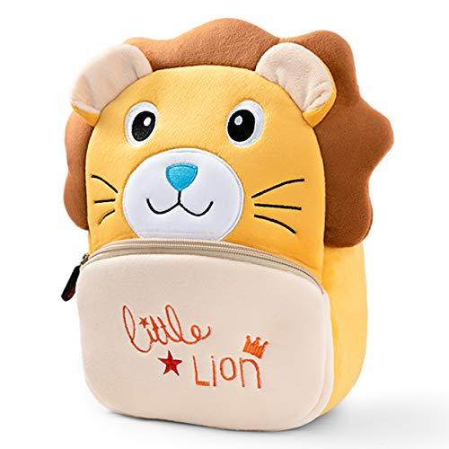 LESNIC Kinderrucksack Kleine Kleinkind Kinder Rucksack Plüsch Tier Cartoon Mini Kinder Tasche Krippenrucksack mit Brustgurt Sicherheitsleine für Baby Mädchen Junge Alter 1-5 Jahre