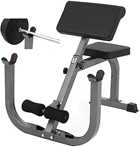 Bench Roman Chair Back Hyperextension 【Ship From USA】Adjustable Preacher Curl Weight Bench Exercise Strength Training Back Machines