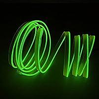 サーチライト電球 車のLEDストリップライトの適用範囲が広いネオンエルワイヤの防水ユニバーサルカーの室内装飾ストリップLEDの車のライト10色12V 2M サーチライト電球ジャブスコ5 (Emitting Color : Light Green)