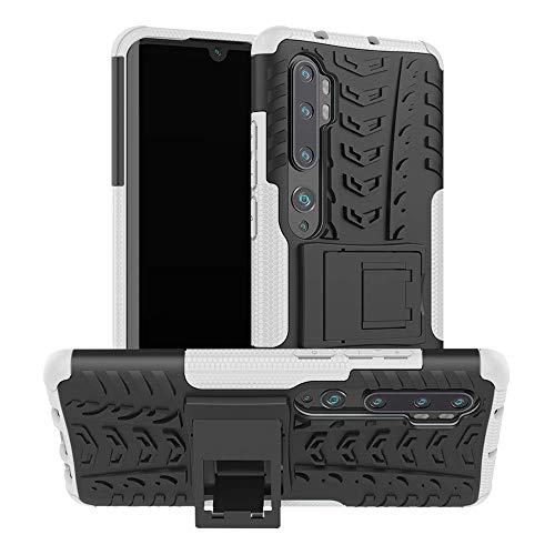 Capa Capinha Anti Impacto Para Xiaomi Mi Note 10 e 10 Pro Tela 6.47Case Armadura Hybrid Reforçada Com Desenho De Pneu - Danet (Branco)