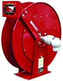 Heavy Duty Hose Reel for Low Pressure Liquid Propane - Designed for Use With 3/4 in x 75 ft Hose, 350 psi, 1 NPT - Female Inlet, 3/4 NPT - Female Outlet