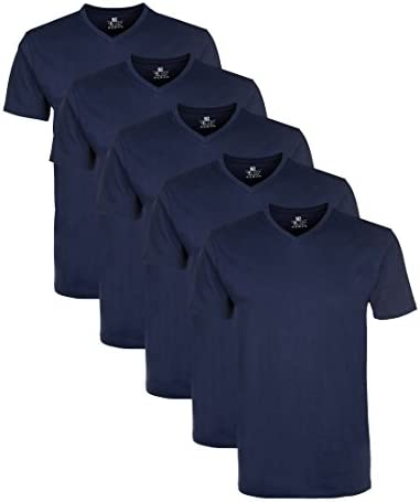 Lower East Camiseta Hombre Cuello Pico, Pack de 5