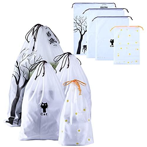 20 bolsas de cordón impermeables multifuncionales, bolsa de almacenamiento con cordón para maleta, zapatos, deporte