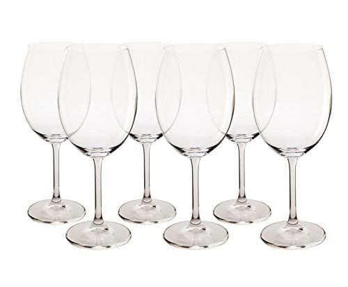 Bohemia Conjunto de 6 Taças Bordeaux, Transparente