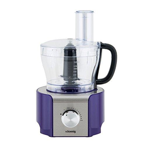 H.Koenig MX 18 MX18 Procesador de Alimentos multifunción Morado, 800W, 1,5 litros, 800 W, Acero...