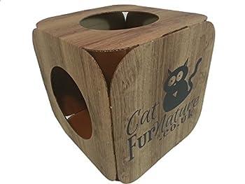 Maison pour chat en carton \ den \ Lit–Effet bois