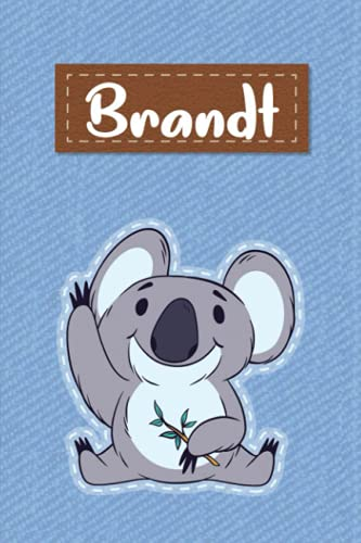 Brandt: Lined Writing Notebook for Brandt With Cute Koala, 120 Pages, 6x9