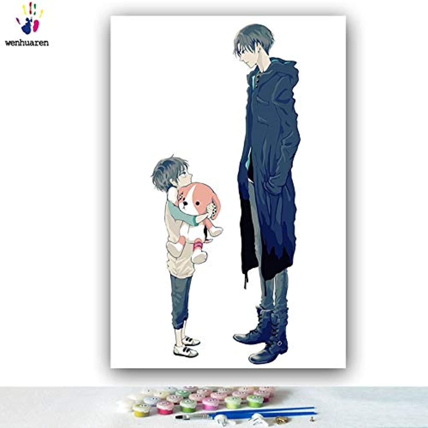KYKDY DIY colorings Pictures by Numbers with colors Attack on Titan Junior Comics Picture Drawing Painting by Numbers Framed Home,0330,70x90 no Frame