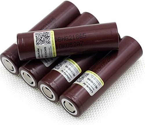 18650 batería de Litio 3000mAh 3.7V para Linterna LED o Equipo electrónico Batería Plana-4 Piezas-3 Piezas
