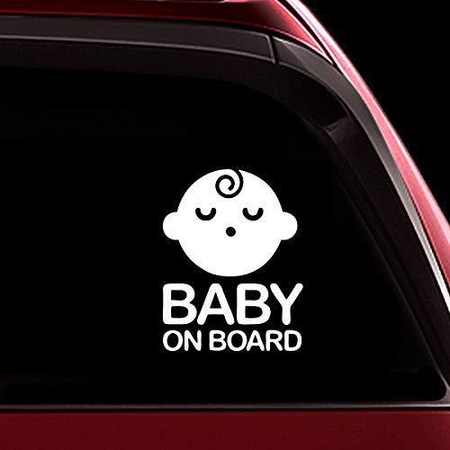 TOTOMO # ALI-020 Etiqueta adhesiva de bebé a bordo Signo de aviso de seguridad para autoventa - Seeling Baby Boy