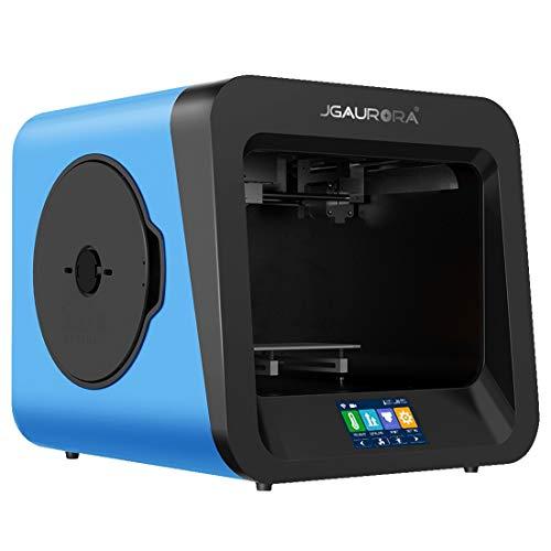 Luoshan. JGAURORA A4 Piastra Metallica di Alta precisione Desktop + Stampante 3D Tridimensionale con Telaio ad Alta iniezione (Blu) (Color : Blue)