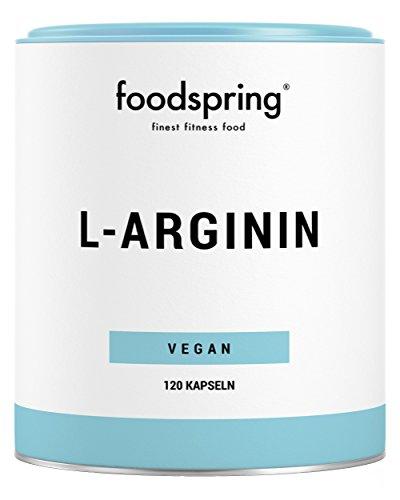 foodspring L-Arginin Kapseln, 120 Stück, Vegane Kapseln für den Extra-Boost im Training, Hergestellt in Deutschland unter höchsten Qualitätsstandards