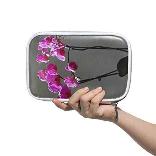 Maquillage Sac Voyage Orchidées Fleurs Violettes Bus Cosmétique Sac Voyage Trousse De Toilette Pour Enfants Multifonctionnel Paresseux Cosmétique Sac Pour Hommes Femmes