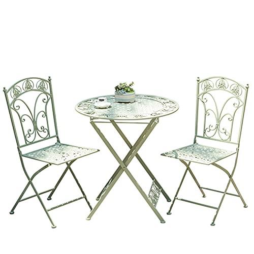 Una combinación de mesas pequeñas y sillas en el balcón, juego de taberna de combinación de mesa y silla de jardín de 3 piezas, mesas y sillas plegables para exteriores,de jardín p
