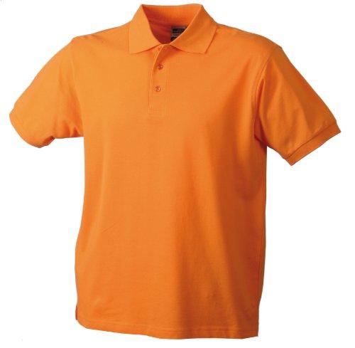 James & Nicholson Jungen Classic Polo Junior Poloshirt, Orange (orange), X-Small (Herstellergröße: XS (98/104))