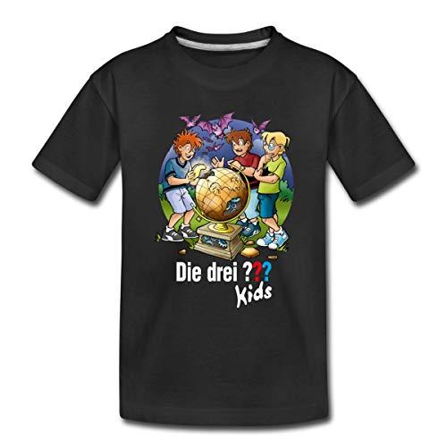 Die DREI Fragezeichen Kids Die Geheimen Inseln Kinder Premium T-Shirt, 134-140, Schwarz