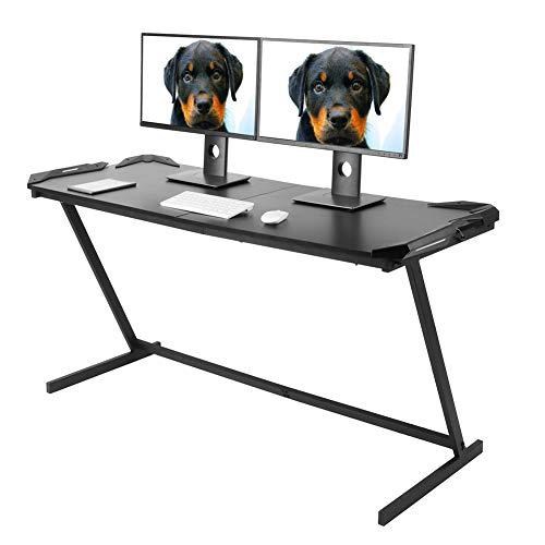Escritorio para videojuegos, escritorio de ordenador en forma de Z, mesa para ordenador portátil, estaciones de trabajo, hogar, oficina, estudio, escritorio, mesa de comedor