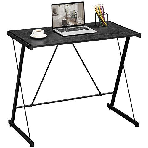 Aingoo Scrivania per computer piccola Scrivania da ufficio semplice per stanze piccole, uffici, facile da montare Nero