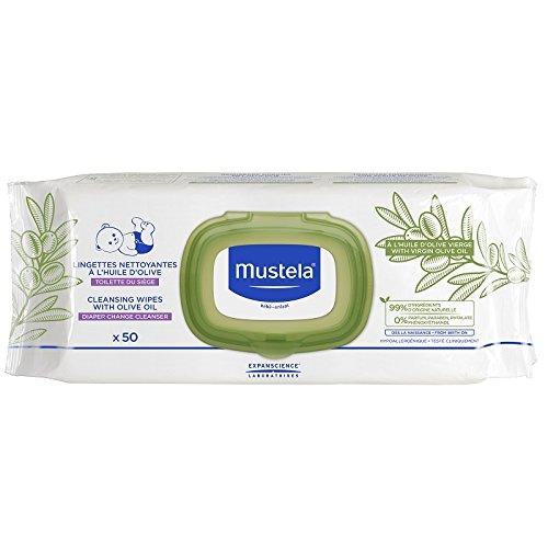 Mustela Toallitas de limpieza con aceite de oliva (50 toallitas)