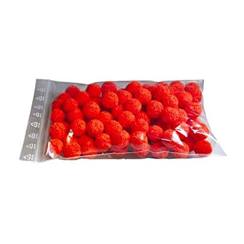ich-zapfe.de Reinigungsschwämmchen, 100 Stück, für 7mm Leitungen, Kunststoff, orange, 10 x 6 x 1 cm