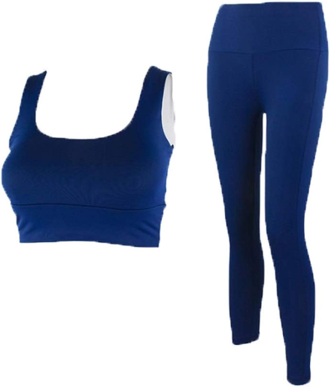 Twopiece Women's Yoga Wear Slimfit Stretch Yoga Wear Yoga Vest Fitness Suit