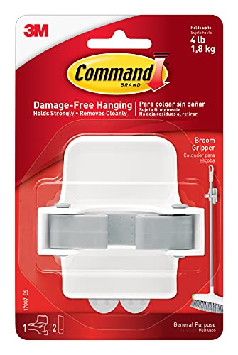 3M Command Adhesive Broom Gripper White 17007-ES