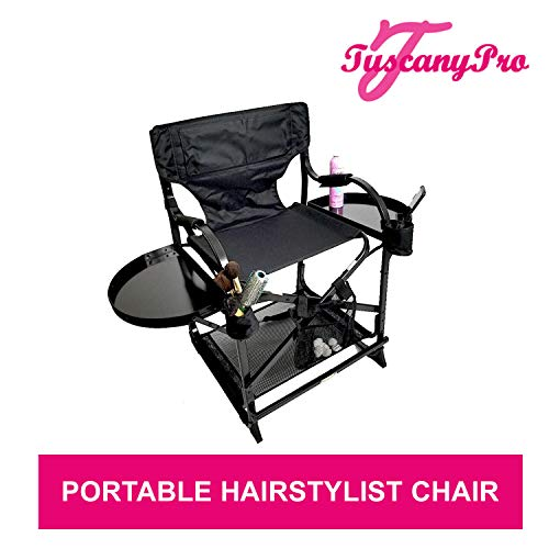 'Season's Special Unique TuscanyPro Portable Hairstylist Chair - Perfect for Hair Stylists, Salons, Movie Sets and More - Italian Design - US Patented - 25 Inch Seat Height