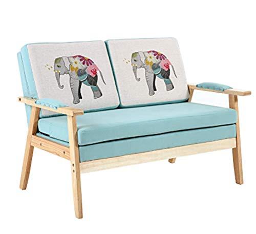 nby Nordic Small Apartment Double Sofa Modern Minimalist Solid Wood Single Sofa Bedroom Balcony Lazy Leisure Sofa Chair