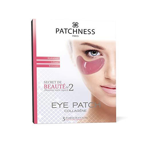 Patchness.-.Cerotti Al Collagene Eye Patch Pink.Contro Le Occhiaie, Agli Estratti Di Fico, Colore: Rosso (Confezione Da 5.Paia - 100 Ml