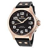 TW Steel TW416 - Reloj analógico de Cuarzo Unisex, Correa de Cuero Color Negro