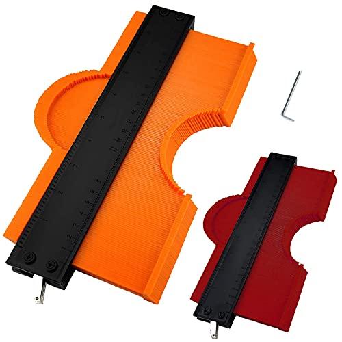 Konturenlehre Kontur Duplizierer für Unregelmäßiges Form 2 Stücke Konturmesser 12cm und 25cm Kunststoff Konturlehren Kontur Markierungswerkzeug Konturmessgerät für präzise Messung