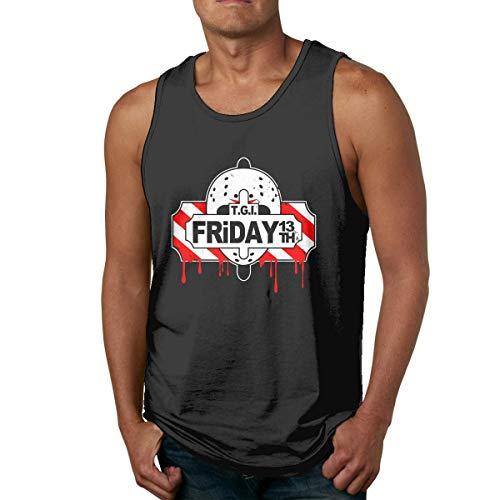 Friday The 13th Man Camisa sin Mangas de algodón para Hombre, usada por Fuera o por Dentro