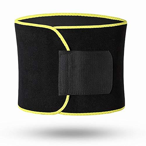 Waist Trainer, Sport Waist Cincher Trimmer Adjustable Sweat Belt Fitness Lumbar Support Best for Women & Men Weight Loss Abdominal Trainers,B