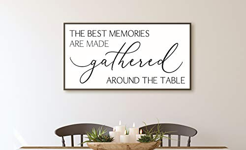 The best memories are made gathered around the table-dining room decor-