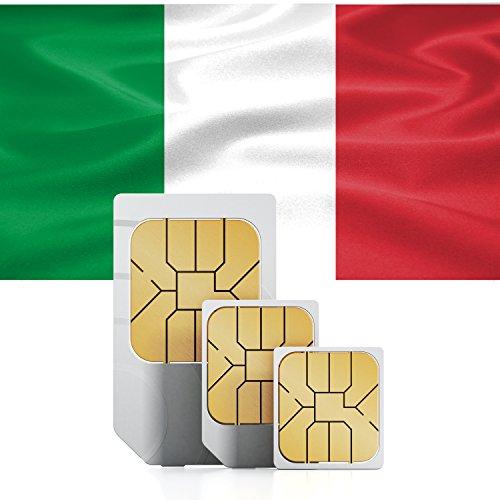 TravSIM Italië Prepaid gegevens SIM kaart - Standaard, Micro & Nano SIM, 3GB