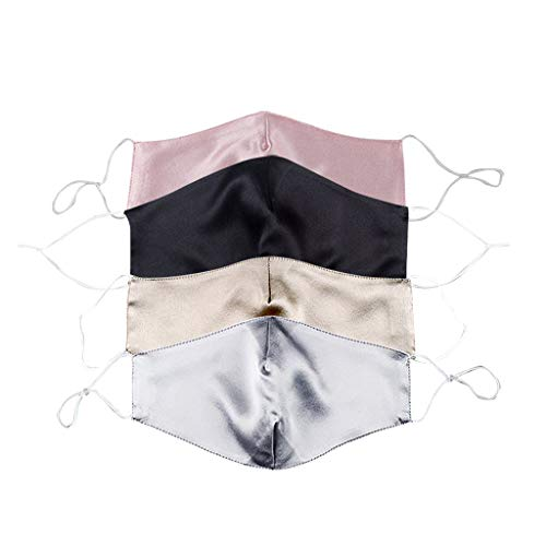 Only 4PC Men And Women Face_mask Ultrathin Double-deck Silk_Cotton Face_masks for Coronàvịrụs Protectịon Washable_Reusable Dust_proof Face_Shield 4PC (Color Mixing 4PC)