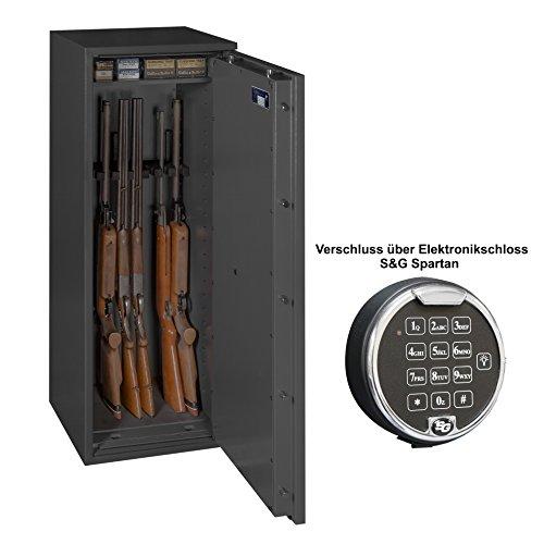 Waffenschrank Gun Safe N 1-8 Klasse N/0 8 Waffenhalter mit Elektronikschloss