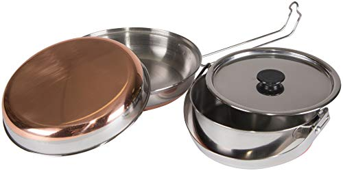 STANSPORT - Stainless Steel Mess Kit for Camping,Backpacking & Outdoors , Silver, 7  L x 2.8  W x 7  H