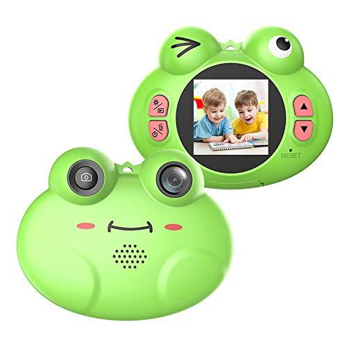 CamKing Cámara Digital para niños, K5 HD 720P 12MP 8X 1.54 Pulgadas Pantalla de Dibujos Animados Cámara Digital portátil para niños (Verde)