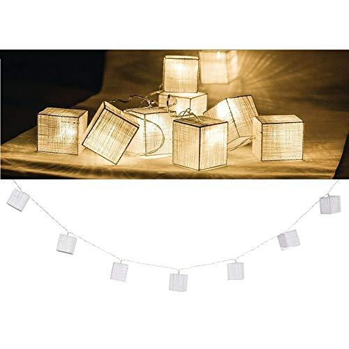 EQT-TEC Lichterkette 10 LED 2.1 m Licht Würfel Dekoration Lichtschlauch Fotoshooting Deko Lampe