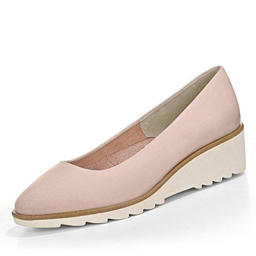 Tamaris damskie buty baleriny obcas klinowy róża 12230026521, różowy - rose - 40 EU