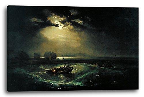Leinwand (80x60cm): William Turner - Fischer auf See