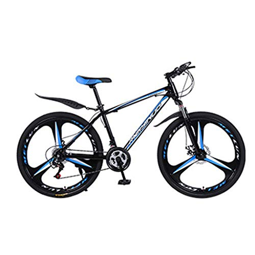 SHUANGA Outroad Mountainbike 21 Speed 26 Zoll Bike Doppelscheibenbremsen FahrräderMei Yi Nuo Fahrrad 26 Zoll 21-Gang Standardversion Carbon Stahlrahmen 3 Schneidrad