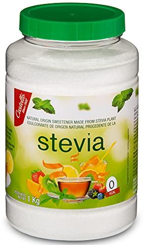 Edulcorante Stevia + Eritritol - Granulado - Sustituto del Azúcar 100% natural - Hecho en España - Keto y Paleo - Castello since 1907 (1g = 8g de Azúcar (1:8), Bote 1 kg)