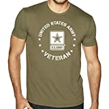 US Army Veteran T-Shirt with US Army Logo (Olive Drab, Large)