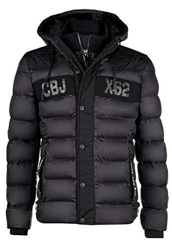 Cipo & Baxx Herrenjacke Winterjacke Steppjacke Übergangsjacke CM143 (Large, schwarz)