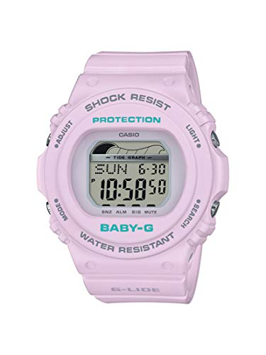 CASIO Damen Digital Quarz Uhr mit Resin Armband BLX-570-6ER