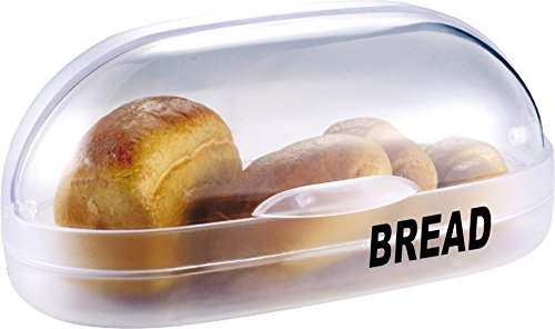 "Family Home Transparent Plastic Roll Top Bread Bin Bread Box 15"" X 8.5"" X 6.5"""